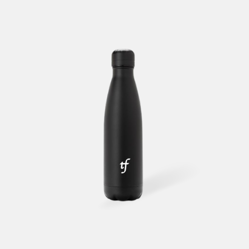 stainless steel water bottle black